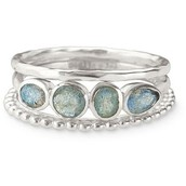 Mimi Stackable Rings, Size 8