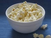 3 CUPS OF POPPED POCORN