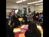 Yolanda Coleman explaining a parent resource