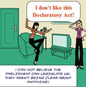 the declaratory act acting