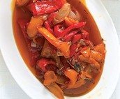 Side order: Stewed Sweet Peppers (2₯)