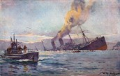 Germans sank six more American ships - February  3 - March 23, 1917