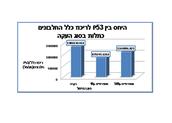 גרף 3 - P53/ ריכוז כלל החלבונים כתלות בסוג העקה