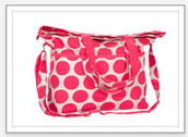 RETRO METRO FOLD OVER CORAL DOT - THIS MONTH ONLY - $32.50