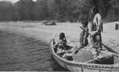 Native Americans fishing