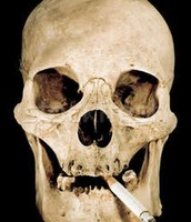 What skull looks like after smoking