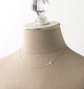 Interlock Cross Necklace $59 Silver or Gold