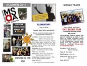 Theatre, Music, Art, Film, & Play Summer MSAA Camp