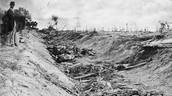 Battle of Antietam massacre at Bloody Lane