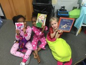 These girls are ready to read, too!