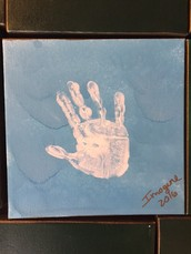 The cost of your childs handprint - $20. The look on their face when you proudly display your purchase at home….PRICELESS!