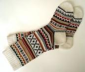 calcetín lana quince dólares