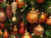 Decoration of the christmas tree