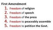 Freedoms of the First Amendment