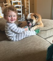 My nephew Connor and Wally
