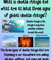 What is climate change, and what are at least three signs of global climate change?
