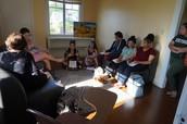 SPAN 397 class- at La Casita Cultural Latina- Stetson University