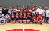 basketball and cheer
