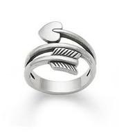 Arrow & Heart Ring (silver)