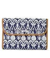 SOLD - Hang On Travel Case - Blue Ikat