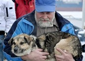 Baltic and his rescuer