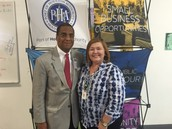 Commissioner Theldon Branch with Superintendent Brenda Arteaga
