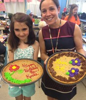 Fiona Brought in Cake for Mrs. Kostka's Birthday!