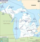 What are the major land features of the area?