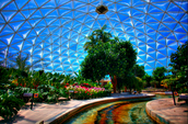 Inside Epcot Globe