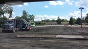 Parking lot demolition