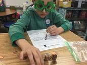 St. Patrick's Day fun in Mrs. Hunt's classroom
