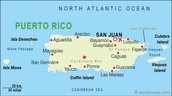 Puerto Rico on the map
