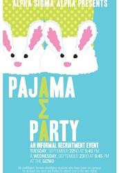Alpha Sigma Alpha Presents: Pajama Party