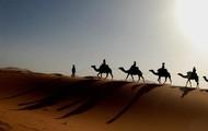 Walking through a desert