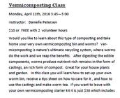 Vermicomposting Class