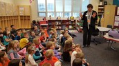 1st grade learned about the importance of hand washing