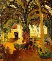 Palmeira e Jardim