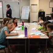 Mrs. Beavert excited about Pancake Lab!