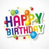Happy Birthday to.......