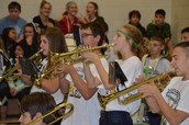 Our awesome band at Thursday's Pep Rally!