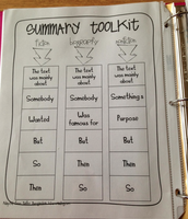 Nonfiction Summary Toolkit