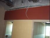 Accent above classroom doors