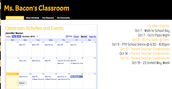 Ms. Bacon's Classroom Information