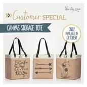 Customer Special - Canvas Storage Tote