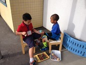 Problem solving chairs can go outside!