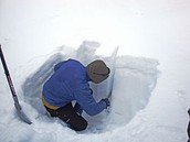 Snow pit testing