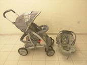 GRACO BABY STROLLER AND MATCHING CAR SEAT TRAVELING SYSTEM
