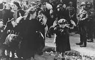 Nazi's beating the Jewish people