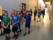 Students took in the sights in the hallways and classrooms.