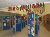 Arts Alive Spring Show Displays